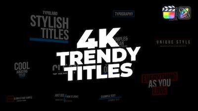 Trendy Titles