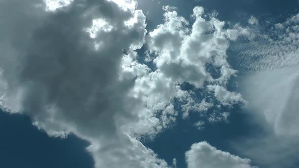 Thumbnail for Natural Rain Clouds On Blue Clean Sky