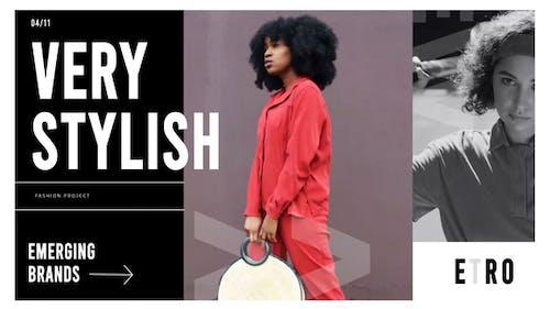 Fashion advertising promo