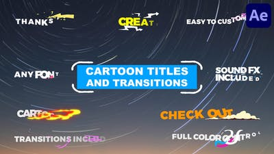 Cartoon Titles And Transitions | After Effects