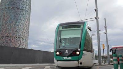 The Tram In Barcelona