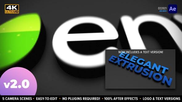 Elegant Extrusion   3D Logo