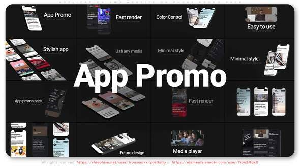 Application and Website on Phone Promo Pack