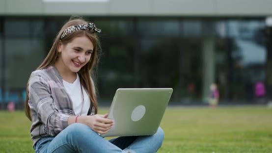 Thumbnail for Girl Making Video Call on Laptop