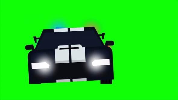 Animated Cop car chasing an intruder car.