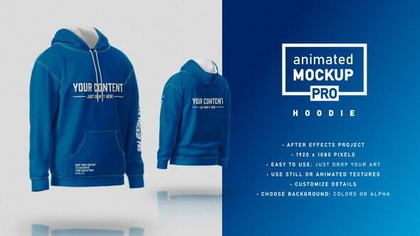 Hoodie Mockup Template - Animated Mockup PRO