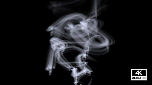 Wispy White Smoke Rising