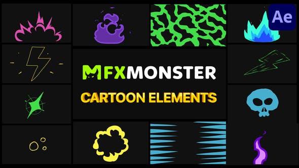 Cartoon und Scribble Elemente | After Effects