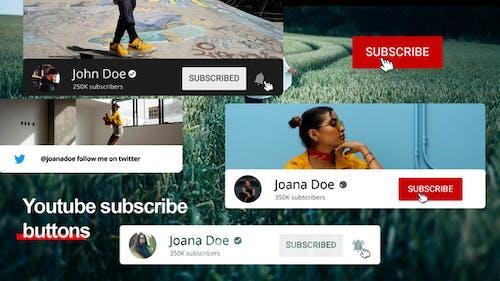 Кнопки подписки Youtube