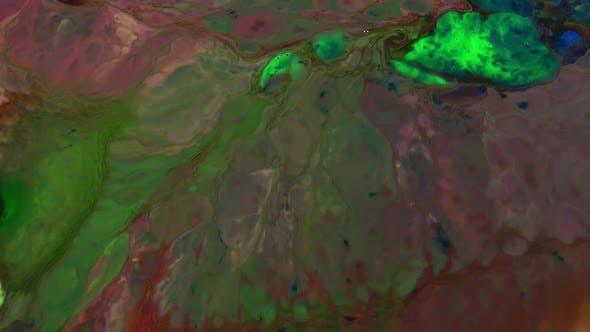 Thumbnail for Abstract Pigment Paint Mixture Texture