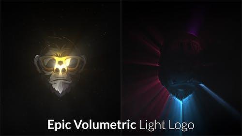 Epic Volumetric Light Logo Intro