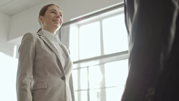 Thumbnail for Businesswoman Making Deal with Businessman