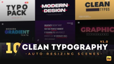 10 Clean Typography Scenes