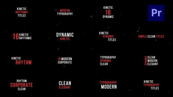 Kinetic Titles