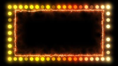 Fire Border Frame With Party Light