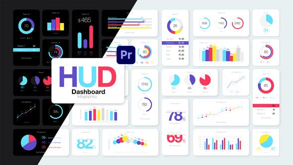 HUD Dashboard Infographics Essential Graphics for Premiere Pro