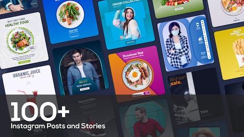 Paquete de más de 100 publicaciones e historias de Instagram