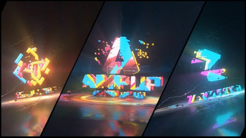 Colorful Abstract Logo Reveal