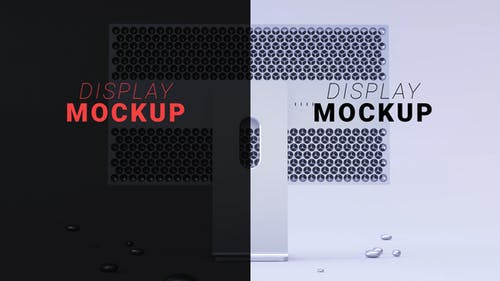 Mac Pro Display Mockup White And Black