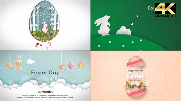 Happy Easter Day (4 in 1)