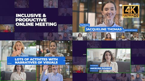 Online Meeting Group Video Conference - Zoom Event Promo