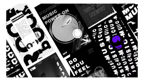 Music Visualizer black and white stories