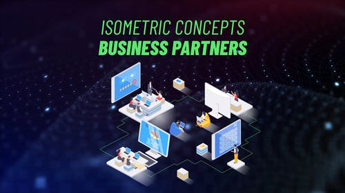 Business Partners - Isometric Concept