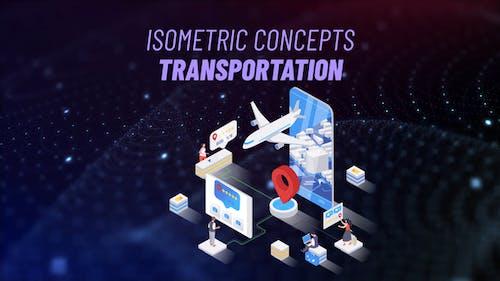 Transport - Isometrisches Konzept