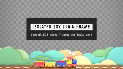 Isolated Toy Train Frame