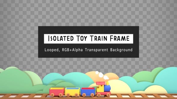Thumbnail for Isolated Toy Train Frame