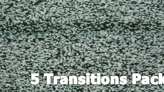 Thumbnail for TV No Signal White Noise Transitions 5-Pack
