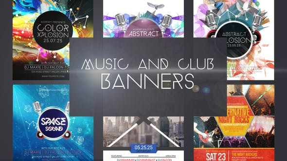 Music & Club Event Banner Ad