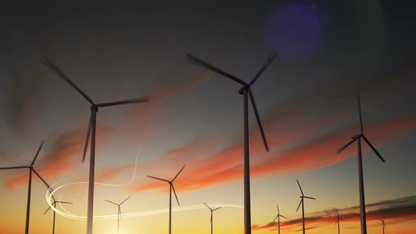 Windturbinen-Generator Windenergieanlage Kraftturbine