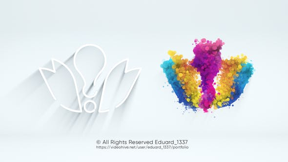 Light Particle Logo Reveal