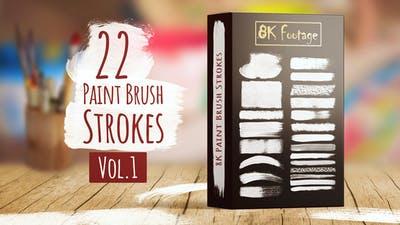 8K Paint Brush Strokes Vol.1
