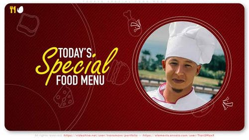 Today's Special Food Menu