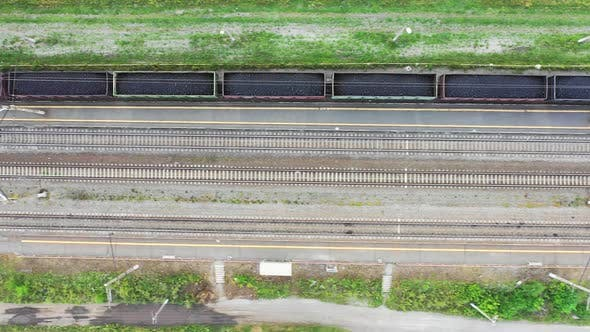 Thumbnail for Aerial View of a Coal Train. View From Above