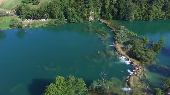 Thumbnail for Aerial view of Mreznica river