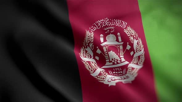 Afghanistan Flag Textured Waving Close Up Background HD