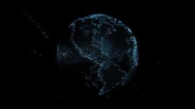 Digital hologram earth