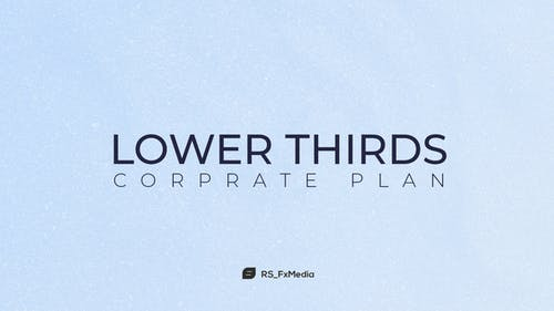 Lower Thirds | Corporate Plan