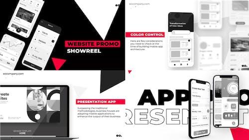 Black and White Website Promo