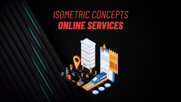 Online Services - Isometric Concept