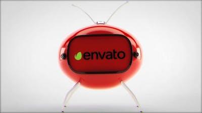 Cartoon TV logo reveal