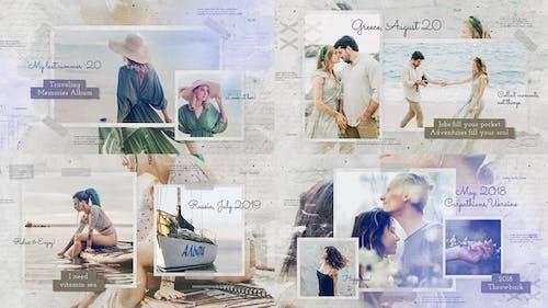 Traveling Memories Photo Album / Adventure Journey Ink Slideshow / Family Friends Romantic Gallery