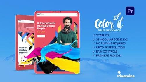 Color it Tablet Presentation for Premiere Pro