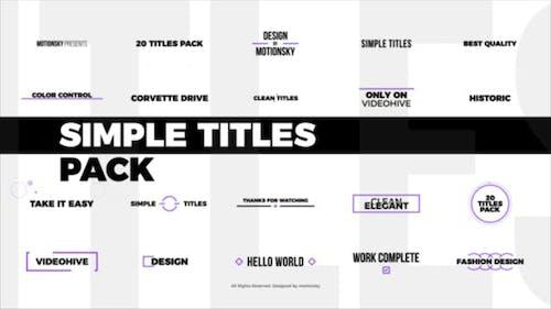 Simple Titles Pack   DaVinci Resolve