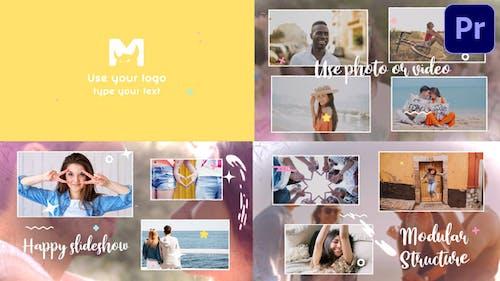 Happy Slideshow | Premiere Pro MOGRT