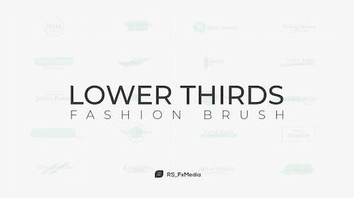 Lower Thirds | Fashion Brush
