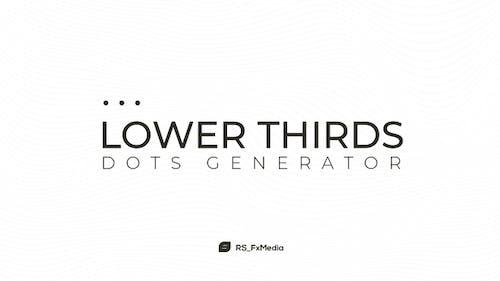 Lower Thirds | Dots Generator